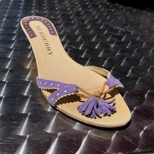 Rare Vintage Burberry Purple Kitten Heel